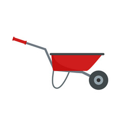 farming wheelbarrow icon flat style vector image