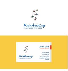 flat decoration light logo and visiting card vector image