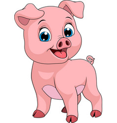 funny cheerful piggy vector image
