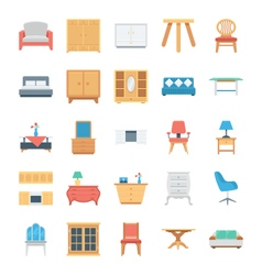 Furniture Colored Icons 5 vector