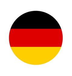 germany flag icon isolate print vector image