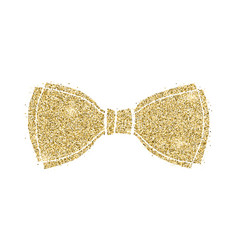 glittering classical bow silhouette bow tie vector image