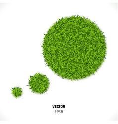 green grass speech bubble vector image