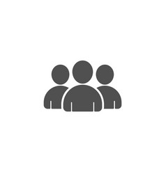 Group simple icon users or teamwork sign vector