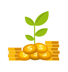 Growth funds economy design vector