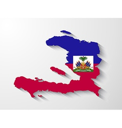 Haiti country map with shadow effect vector image