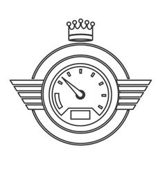 Isolated car gauge design vector