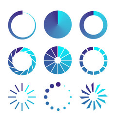 isolated loading icon vector image