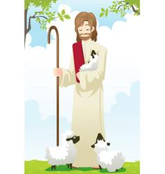 Jesus shepherd vector