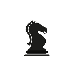 knight of chess icon black the toy success vector image