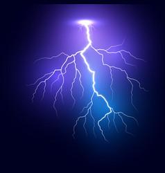 lightning thunder storm realistic lightnings vector image