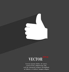 Like Thumb up icon symbol Flat modern web design vector image
