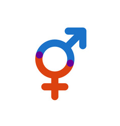 male and female color symbol gender intersection vector image