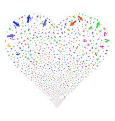 medic fireworks heart vector image
