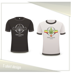 Medical marijuana tshirt nine vector