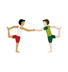 Men in yoga pose icon vector