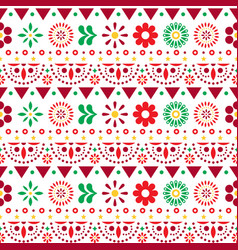 mexican seamless pattern with flowers vector image