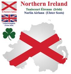 Northern Ireland Flag vector image