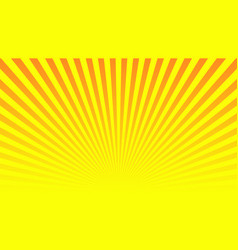 orange yellow ray background vintage abstract vector image