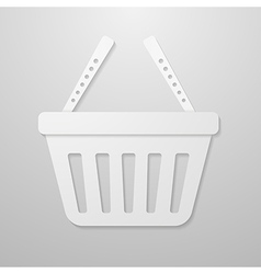 Paper icon of shopping cart vector image