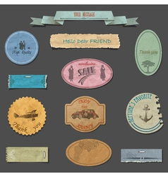 Paper vintage design elements vector