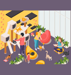 Pet services isometric composition vector