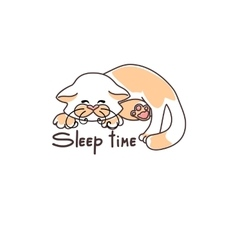 picture cute sleeping kitten vector image