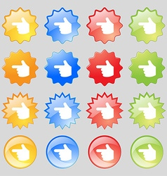 Pointing hand icon sign Set from sixteen vector