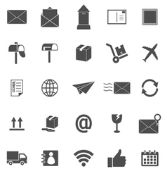 Post icons on white background vector