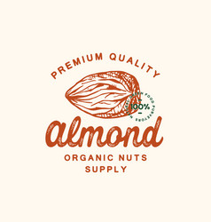 premium quality almond abstract sign vector image