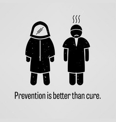 Prevention is better than cure a motivational and vector
