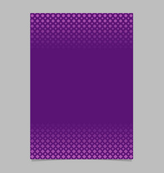 purple geometric halftone pattern flyer design vector image