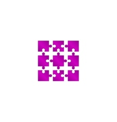 Puzzle Icon Modern design flat style vector