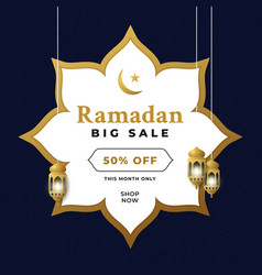 Ramadan big sale promotion event poster vector