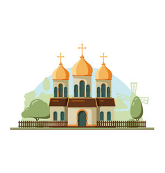 Religion building christian traditional church vector