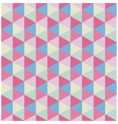 Retro colored modern hexagon pattern vector