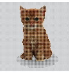 Screw design - kitten vector image