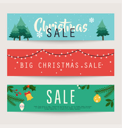 set christmas sale banners design discounts vector image