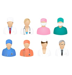 Set of medical people vector image