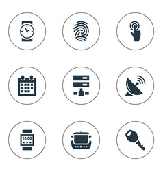 Set of simple internet icons elements datacenter vector