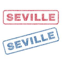 Seville textile stamps vector