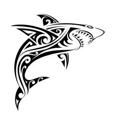 Shark tattoo shape vector