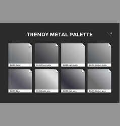 Silver gradient template icon vector