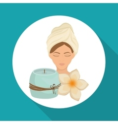 Spa center design Skin care concept Flat vector