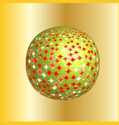 Sparkling christmas globe vector