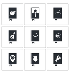 Specialized face book icon set vector image