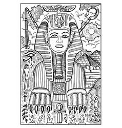 sphinx engraved fantasy vector image