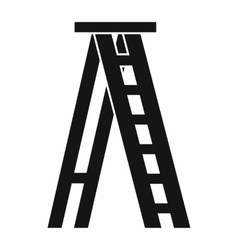 Stepladder icon in simple style vector image