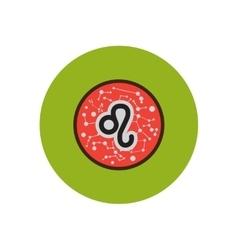 Stylish icon in color circle Zodiac sign Leo vector