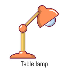 table lamp icon cartoon style vector image